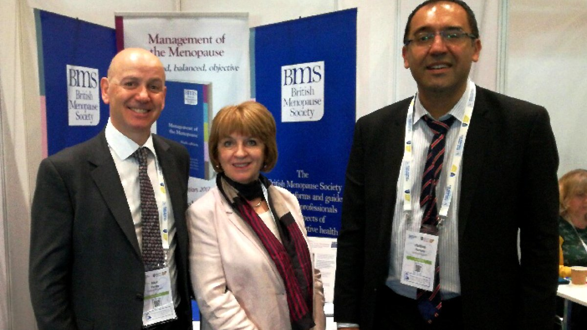 Day 2 of the #RCOG2019 @RCObsGyn The BMS session is in the main auditorium at 1440. Don't miss it! Former BMS Chairman Nick Panay (L) and Chairman Elect Haitham Hamoda (R) with Sara Moger, BMS Chief Executive