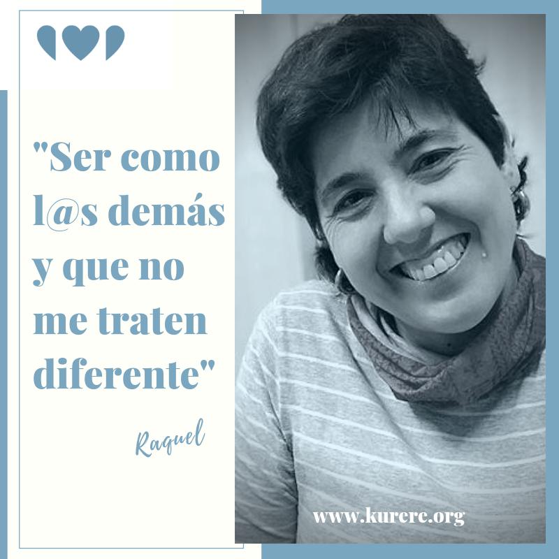 """#Kurere💙 💙Raquel Rodríguez comparte su #testimoniodesuperación #resiliencia #parálisiscerebral #persona #paciente @AINDACE 💙""""Ser como l@s demás y que no me traten diferente"""". 💙""""Intentar conseguir todo lo que uno quiere...  """" 💙👉http://bit.ly/2Ksk3H4 Un abrazo 😘😘"""