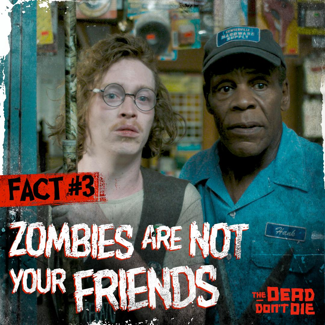 Or family. They will eat your brains no matter how much they loved you when they were alive. #TheDeadDontDie #ZombieFacts