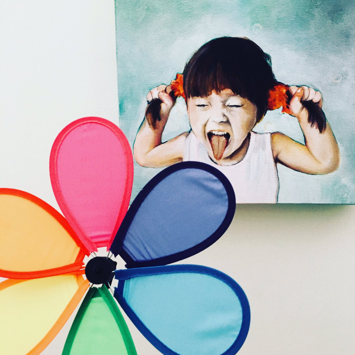 In honour of #hamiltonartsweek (June 14-21) and #pridemonth, we are sharing #flowerpower images of our inclusive art collection, with a little rainbow of colour added! #safespace #safe #lgbtq #lgbtq2s+ #pride #wellwood @HamArtsCouncil #amandaimmurs  #HamOnt #pridemonth2019 #pride
