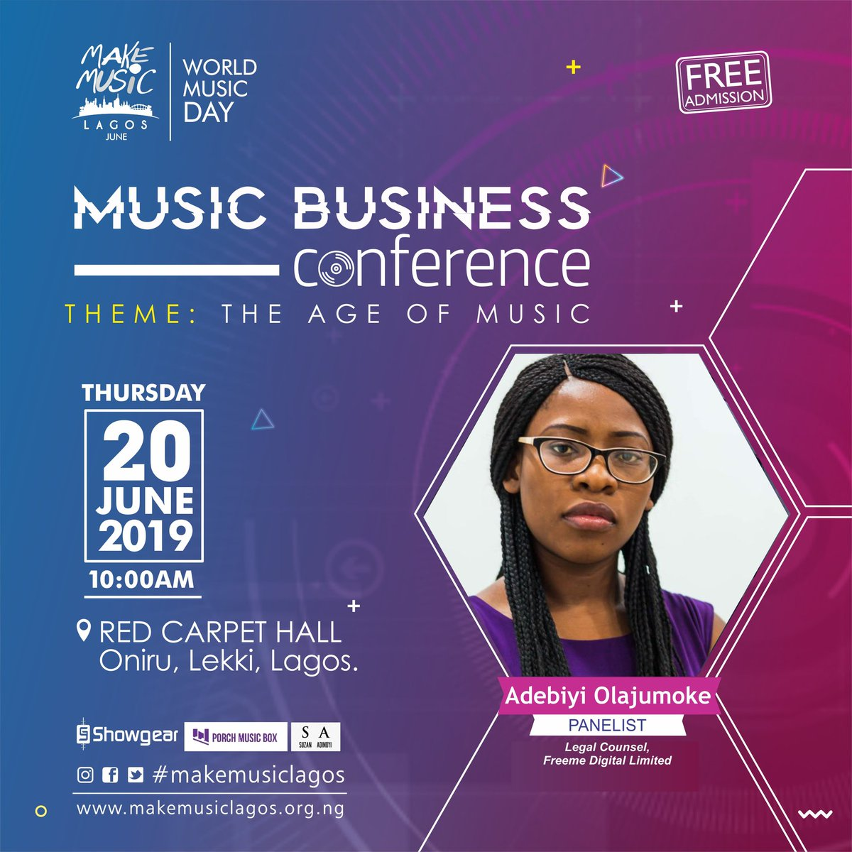My girl's gonna be dropping her two cents on music business and the law. Ya'll show up, let's share a thing or two!  @MakeMusicLagos  #MakeMusicLagos<br>http://pic.twitter.com/oDKjzfWV9H