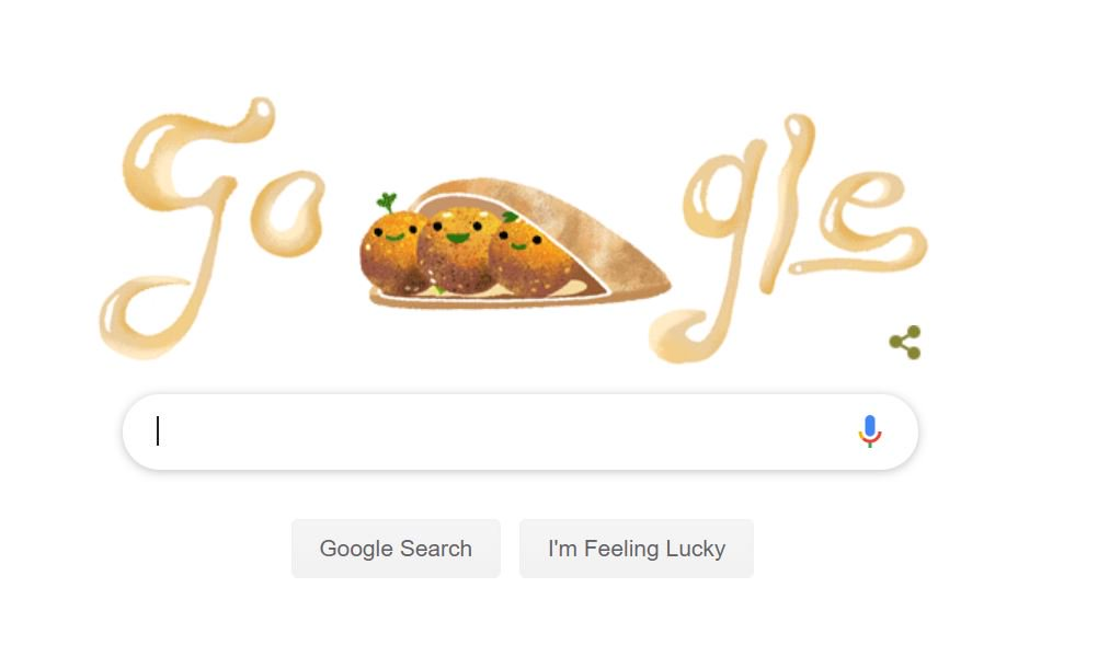 This #GoogleDoodle about falafel (for no apparent reason) is the absolute best <br>http://pic.twitter.com/6j3ssW6PJN
