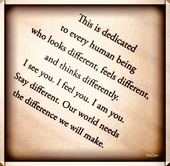 Be #Different 🙋🏼‍♀️😉