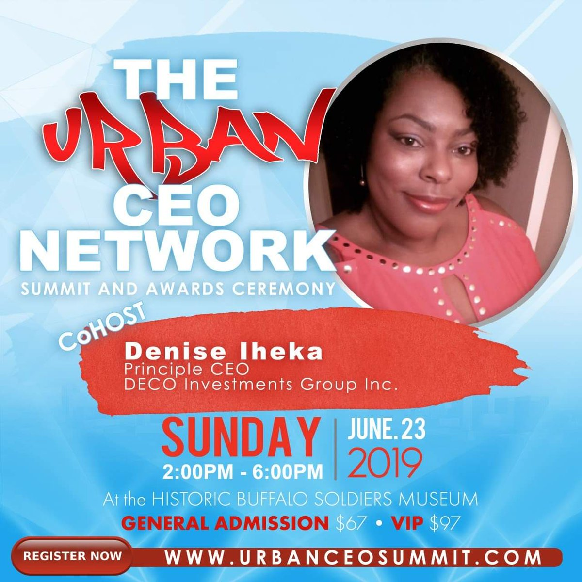 Get your tickets today to the urban CEO network summit. Lets boost your business. <br>http://pic.twitter.com/7wOq3xd65n