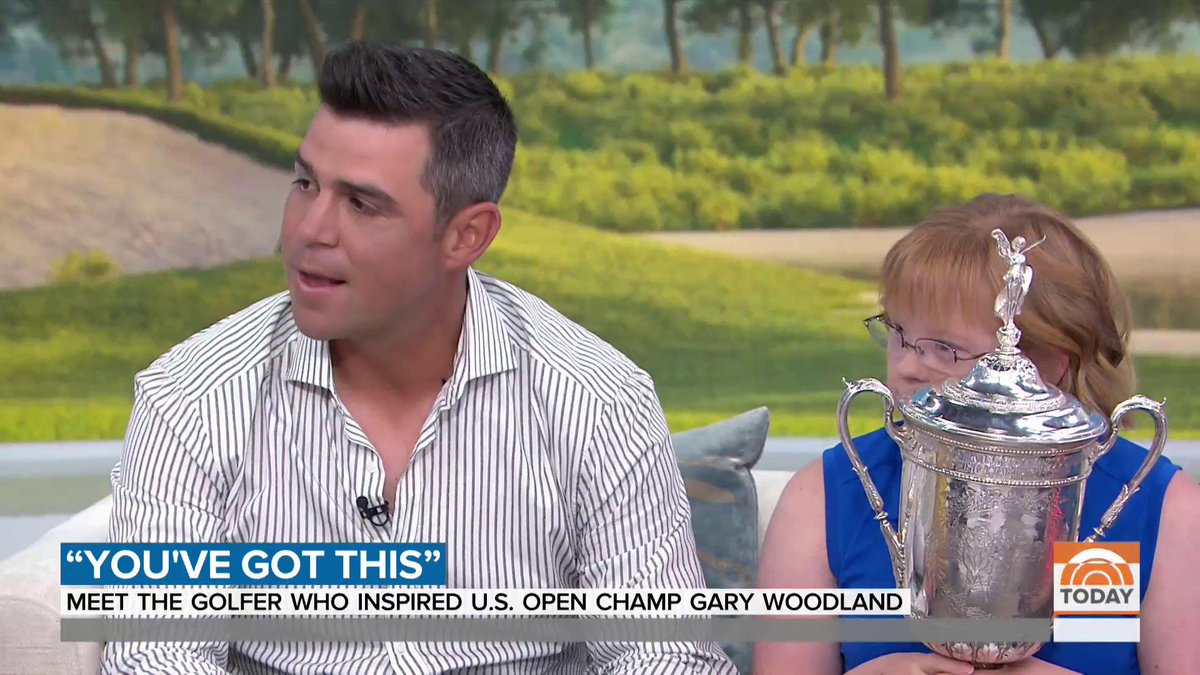 Viral star Amy Bockerstette got a surprise visit from U.S. Open champion Gary Woodland this morning on the Today Show. 💯