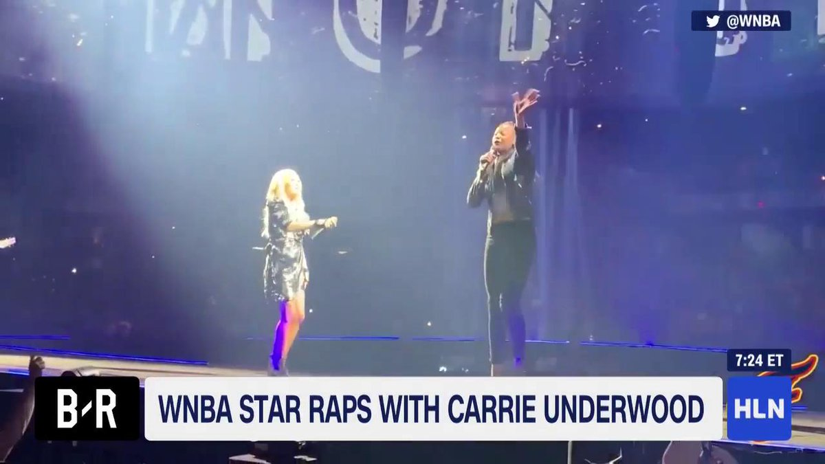 🙌🎤 @EricaMcCall drops a hot 16 bars for @CarrieUnderwood. The @IndianaFever star crushes @Ludacris' lines from 'The Champion'  📺: @HLNTV @MorningExp w/ @RobinMeade @BleacherReport @WNBA