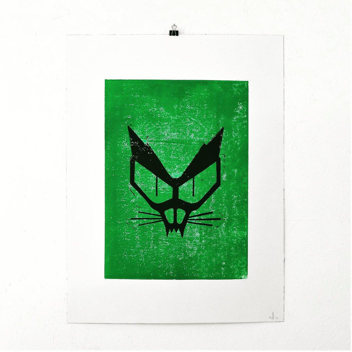 CHAT NOIR - #linogravure 46x61cm -  #ecologie #libertaire #green #blackcat #lino #linocut #print #ecology #extinctionrebellion #cat #poster #affiche #anarchy #anarchie<br>http://pic.twitter.com/G2PwqCkwQW