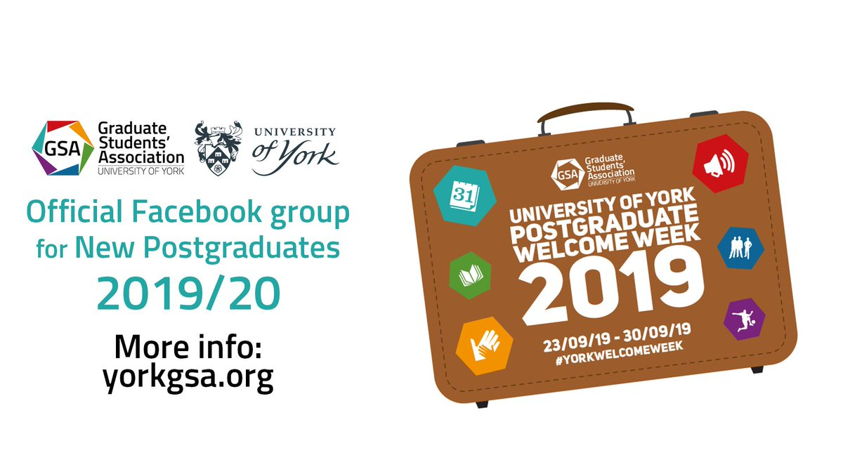 Starting your Masters or PhD with us soon? Meet other students in our Facebook group: http://bit.ly/2QK0Z7t #YorkPGs #LoveYork