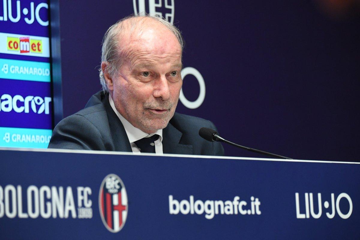 """#Sabatini🎙: """"A Bologna c'è molta competenza e la volontà di raggiungere risultati importanti. Il nostro intento è creare un circuito virtuoso di calciatori, credo molto nel mercato parallelo""""  #WeAreOne"""