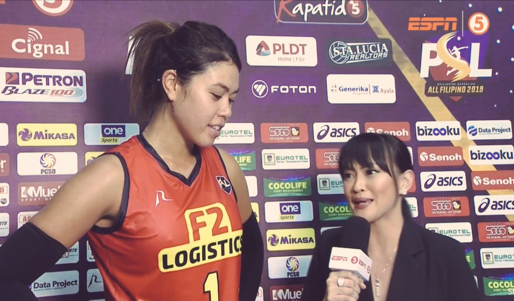 whoohoooo 3 straight sets !!!CONGRATS @Leimau_!additional FIREPOWER for f2! she is playing so well with her new team!    amazing game! Amazing team! iba talaga ang laro dito @SuperLigaPH <br>http://pic.twitter.com/jIK2yPKkjw