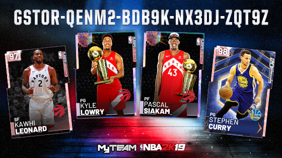 Locker Code 🚨  Use this code for a GUARANTEED player from the Finals, including PD 20th Anniversary Steph Curry, GO Fred VanVleet, GO Kyle Lowry, PD Kawhi Leonard, and more! https://t.co/p88ni05Ci9