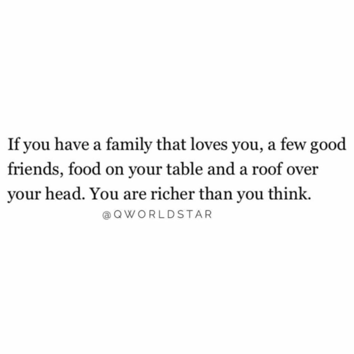 """""""Count your blessings..."""" 💯🙏 @QWorldstar #PositiveVibes"""