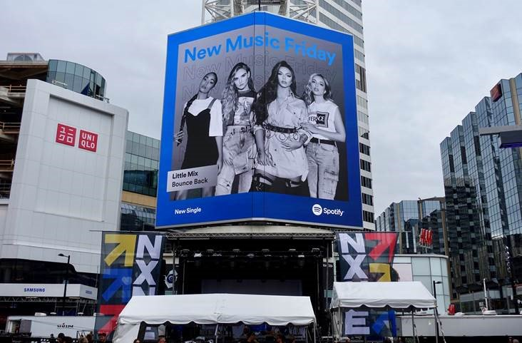Thank you @SpotifyCanada for your support on #BounceBack   We're on a billboard in Toronto! 💃🇨🇦♥️ the girls x https://t.co/SsEGtwEAzL