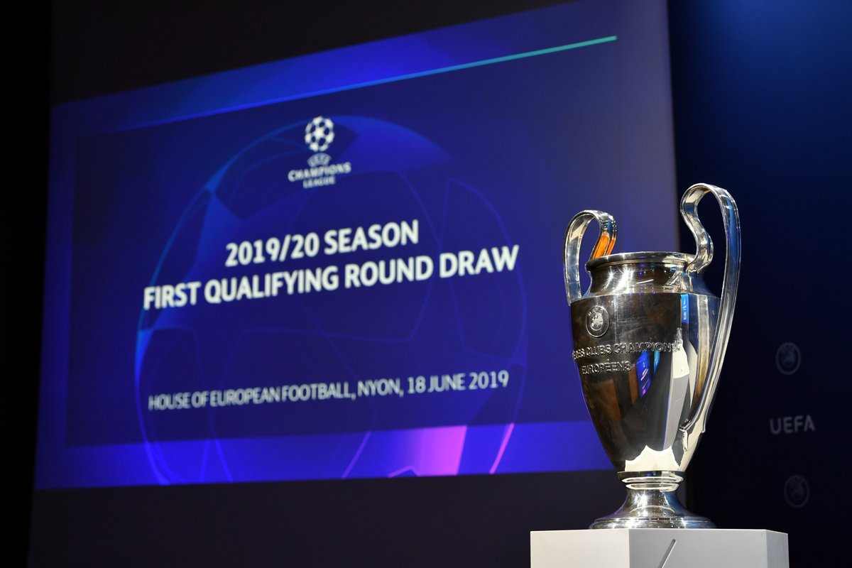 The official result of the UEFA Champions League first qualifying round draw.   #UCLdraw