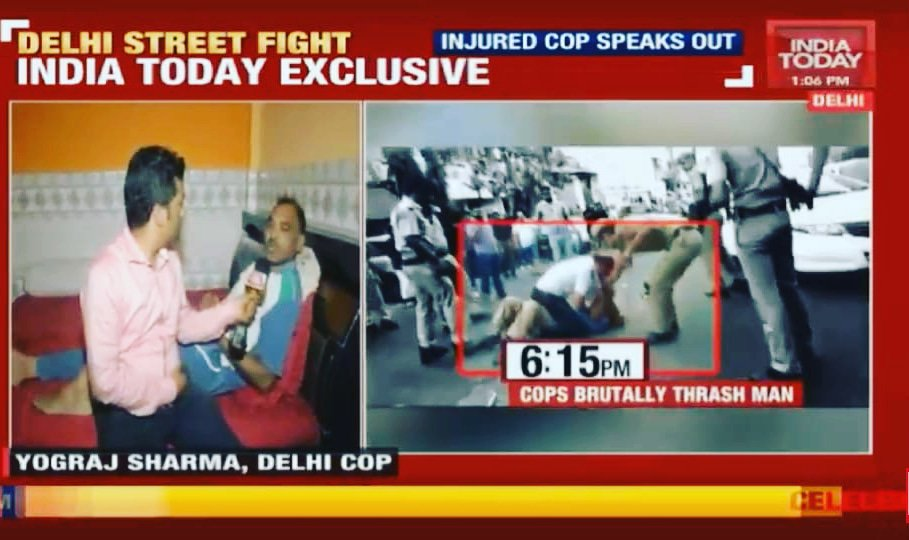 In an exclusive interview with India Today, Delhi police ASI Yograj, who got four stitches on head after being attacked with Kirpaan (sword) by tempo driver Sarabjeet Singh in Mukherjee Nagar area on Sunday, reveal how he overpowered the driver despite being getting  injured.
