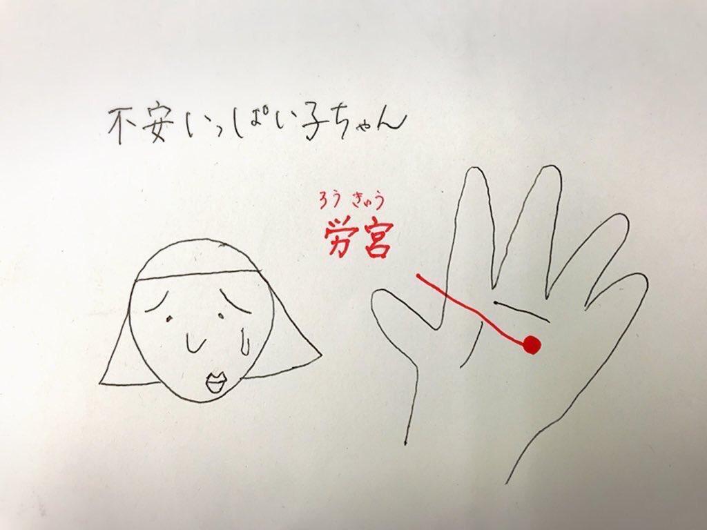 新潟の皆さん。あと『労宮(ろうきゅう)』のツボもオススメ。手の指を曲げた時に中指と薬指の間にあります。自律神経の乱れ、心の疲れが溜まっている、気苦労が多い、緊張しやすい、ストレス・不安がいっぱいだと思います。深呼吸しながら反対の手の親指で5秒押して、離してを繰り返しましょう!