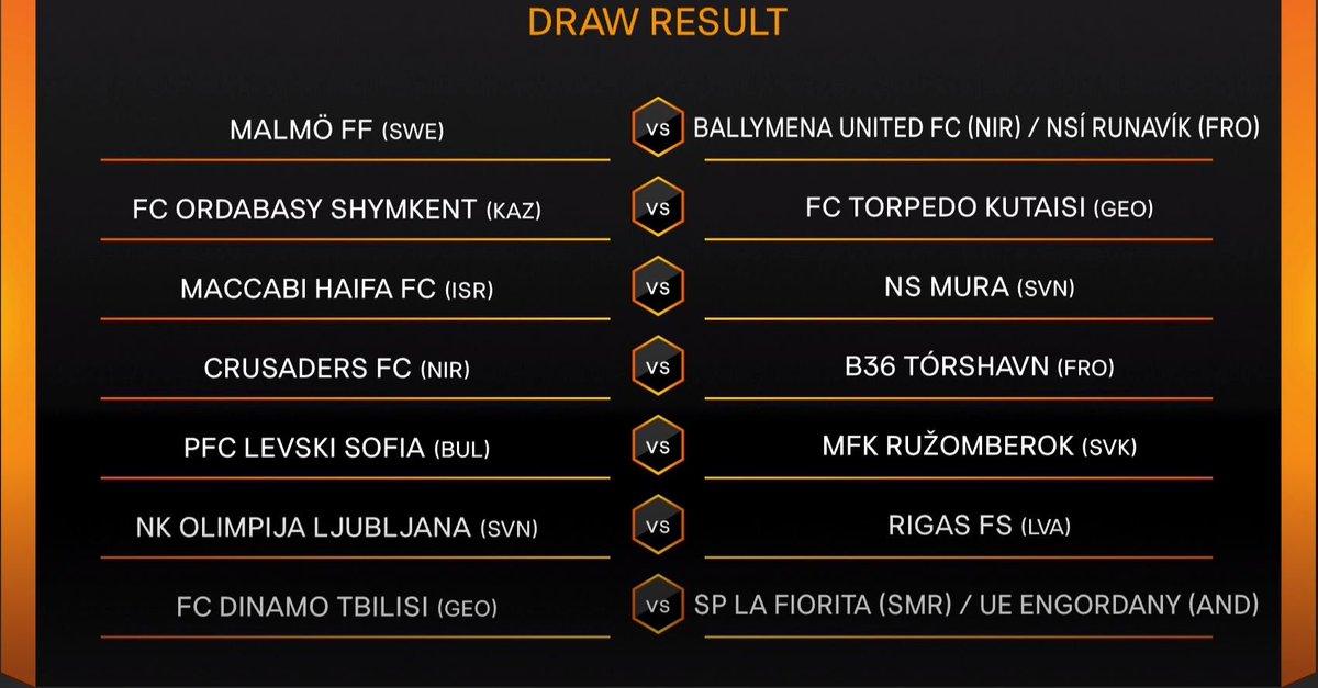 ℹ️Thread: the UEFA Europa League first qualifying round draw result...  #UELdraw
