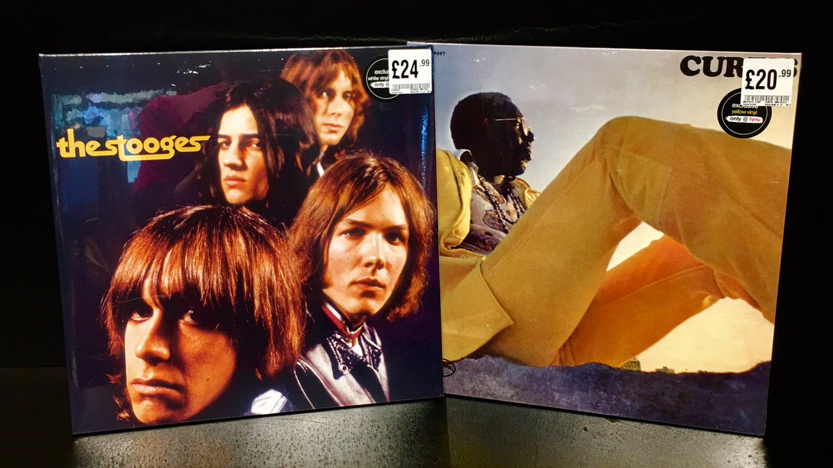 Missed vinyl week? Don't worry, these #hmvExclusive titles did too!   The debut albums by @CurtisLMayfield (on yellow vinyl), and @Iggy_Stooges (on white vinyl) - are now available in-store!   #hmvLovesVinyl<br>http://pic.twitter.com/Qm915TduTs