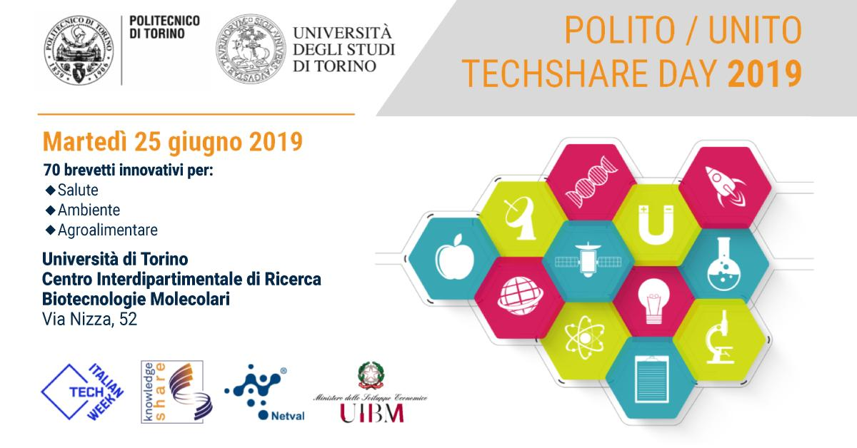 Mancano 7 giorni al #TechshareDay 2019! Vieni a scoprire le innovazioni della #ricerca italiana a Torino al Centro Interdipartimentale di Ricerca per le Biotecnologie Molecolari – MBC (via Nizza 52). Registrati su https://www.eventbrite.it/e/biglietti-italian-tech-week-techshare-day-2019-unito-62917813875 … #ItalianTechWeek #ITW
