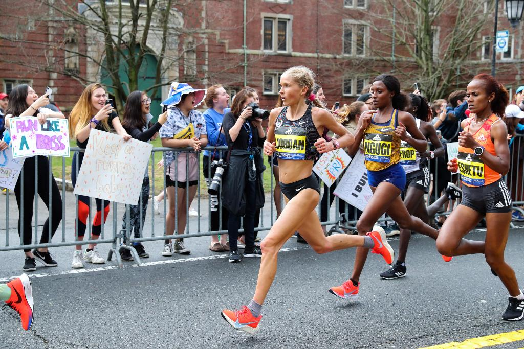 """That's what elevates us all as human beings. If we're all reaching so hard to achieve our potential, it just creates those exciting and special moments.""  @JordanHasay 3rd, 2019 #BostonMarathon <br>http://pic.twitter.com/ZKhXnEa5zy"