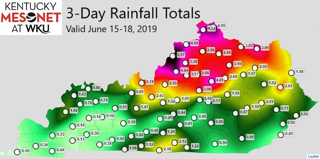 3-day rainfall totals for Kentucky. The bluegrass region has had a lot of rain! #kywx #rain<br>http://pic.twitter.com/EOw2PC9Rfk