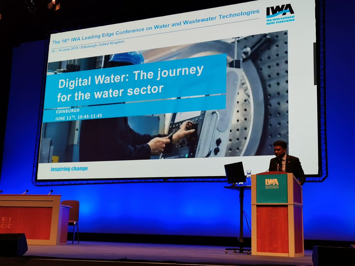 .@IWAHQ At the launch of our #DigitalWater at #iwaLET, which explores how digitalisation is transforming the water sector. Watch the webinar here: htt...