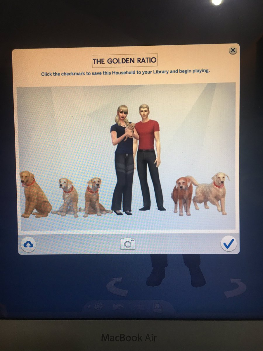 @TheGoldenRatio4 I hope it's okay that I turned the girls into a Sims family with you and GR Dad. They've been uploaded to the Sims Gallery if other people want to download and play as them. Oh, and Schmieg definitely had to be part of this family