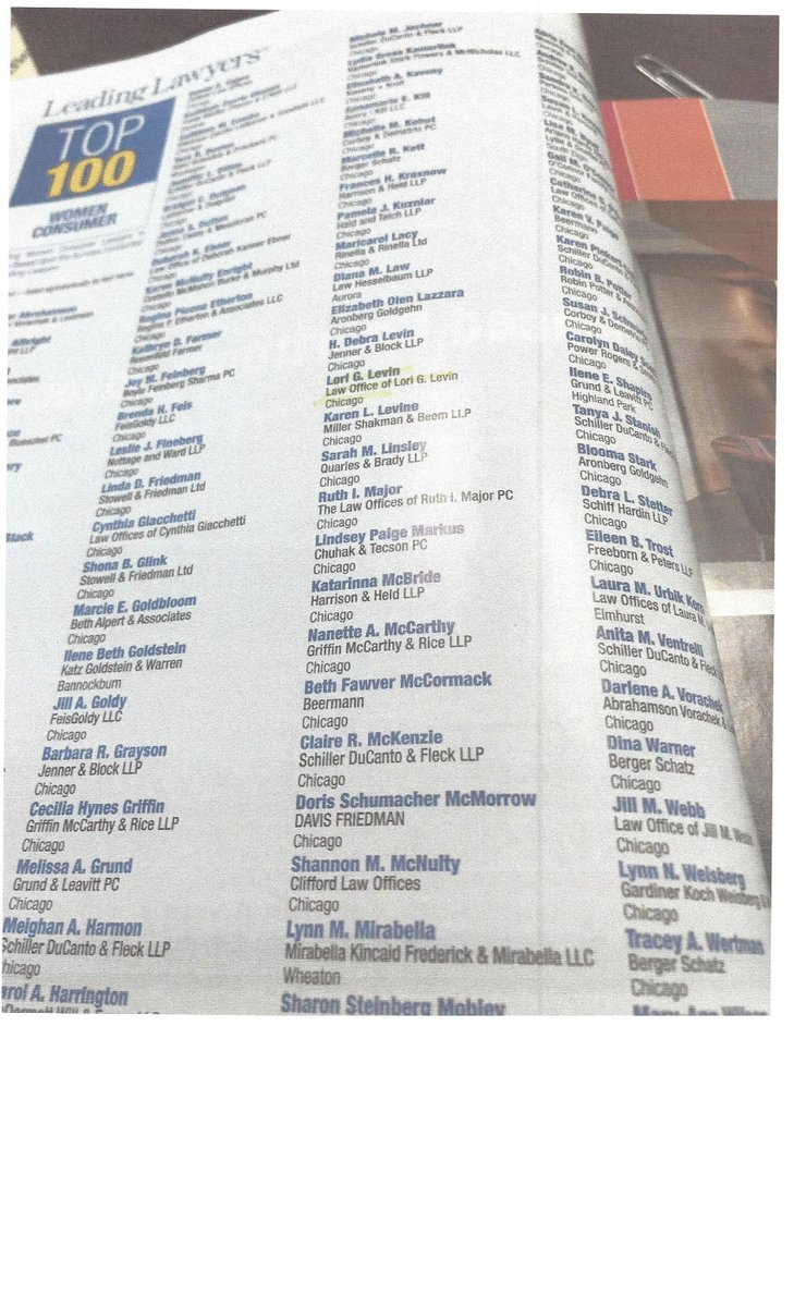 I am thrilled and honored to have been named by @LeadingLawyers as one of the Top 100 Women Consumer Lawyers in Illinois <br>http://pic.twitter.com/SLZJ8yx0Rz
