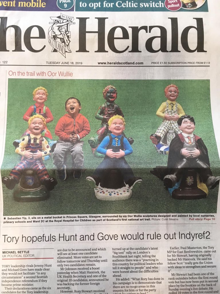 @dundonaldps Oor Jack has made the front page of The Herald today P5/6.
