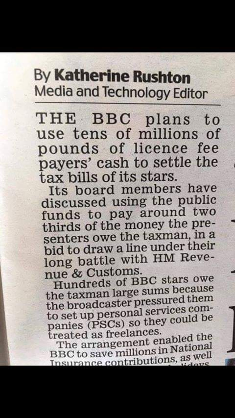 If you are giving the  BBC you hard earned cash maybe you ought to think about that . After all they are going to use your money for this ... <br>http://pic.twitter.com/kzI6vHpo3H