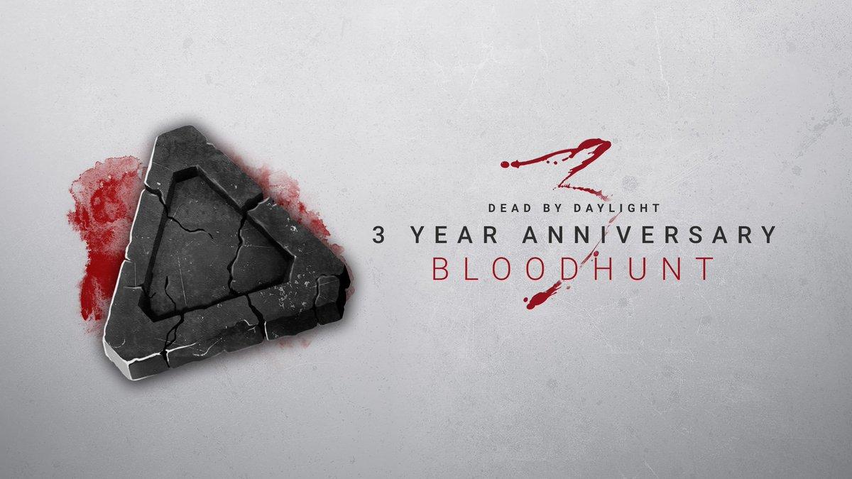 また、皆さんからの3周年のお祝いの気持ちを受け、BP2倍イベントを全プラットフォームで【48時間】延長することにしました!🎂 日本時間6月21日午前3時までブラッドハントを延長します!アンコールをぜひお楽しみください!!😈 😆  #DeadbyDaylight #DbD #Steam #PS4 #ブラッドハント