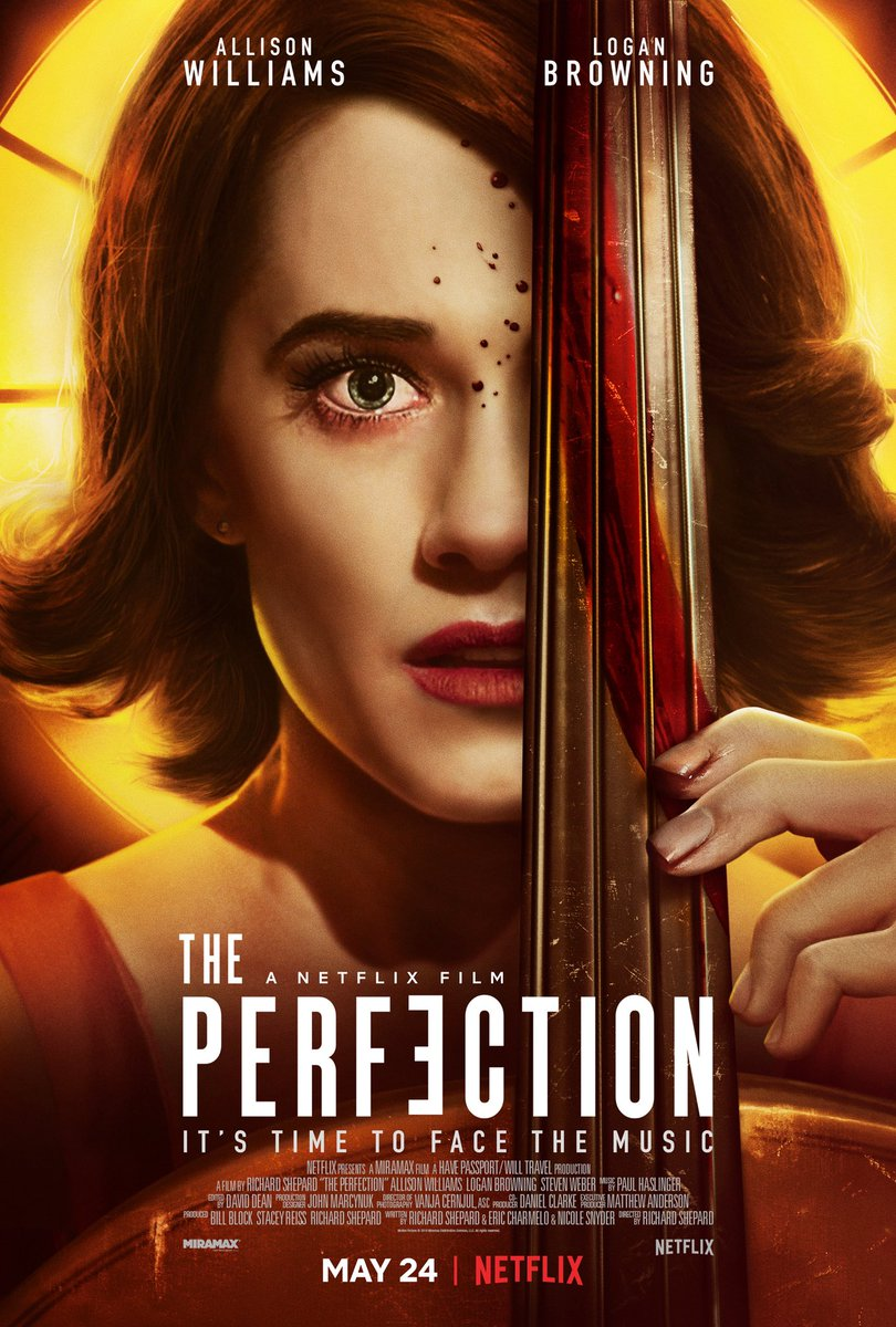 """The Perfection (Thriller,2019)  Just finished watching this ! I love this kind of Thriller,the psycho guna cara """"Halus"""" , this movie a bit weird and disturbing. Love the twist, dalam group Peminat Horror kat telegram,this movie highly recommended to watch ! Love it"""