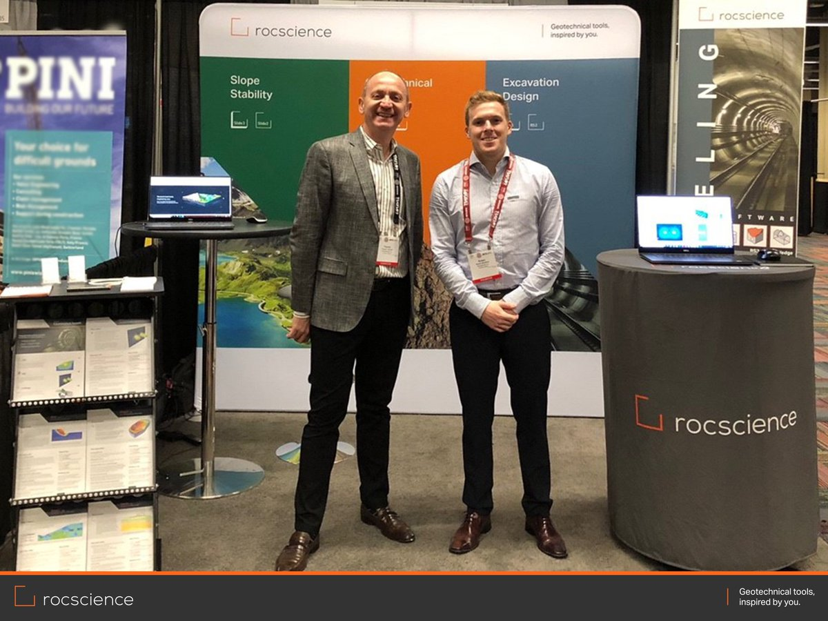 Rocscience is at #RETC2019! Drop by booth 1037 to say hello
