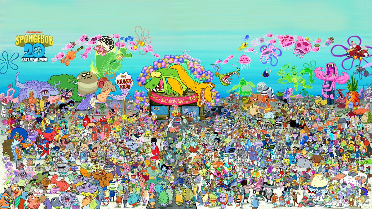 Every SpongeBob character ever! All your Bikini Bottom pals from the last 20 years are here #HappyBirthdaySpongeBob