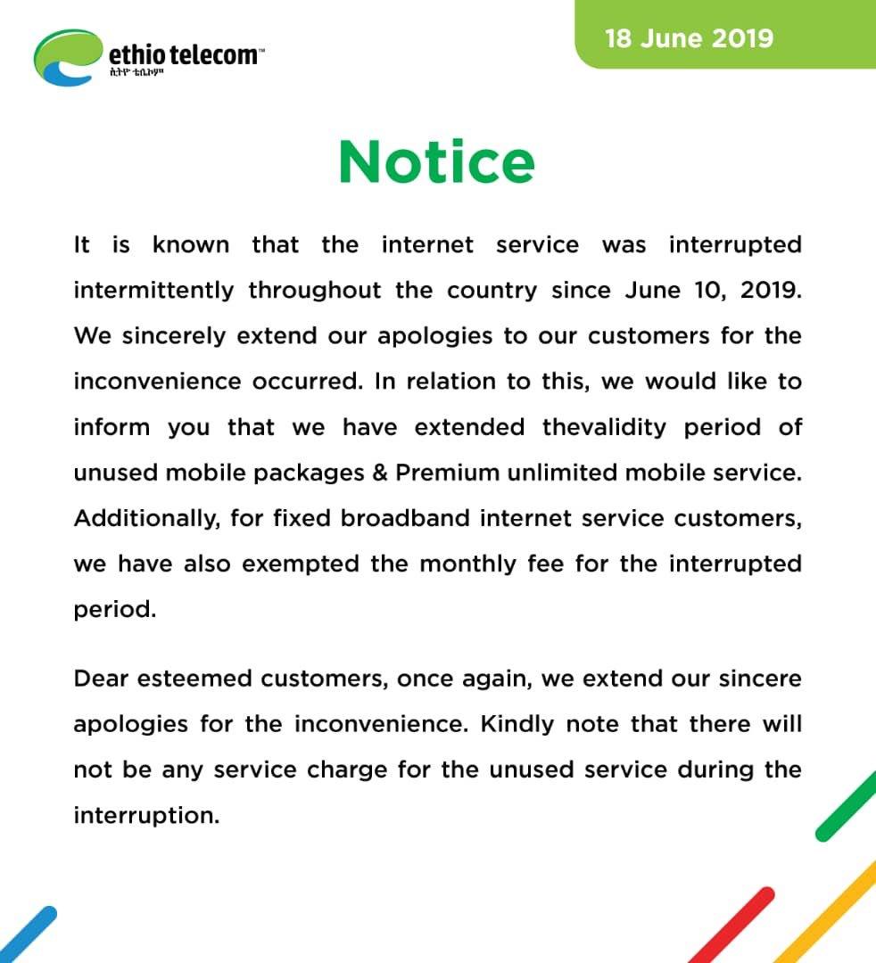Ethio telecom على تويتر: