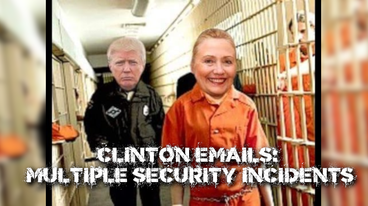 """The State Department hasn't let @HillaryClinton's illegal email server case go. In fact, they have identified 23 security """"violations"""" and 7 security """"infractions"""" in their ongoing investigation. So when is Hillary going to prison?  Please RT and comment!"""