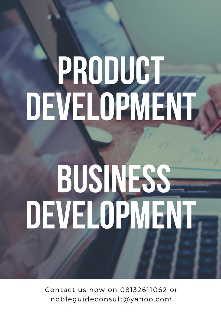 BOOST AND GROW YOUR STARTUP BUSINESS WITH US- NOBLE GUIDE BUSINESS CONSULT offers you attractive packages and solutions for your business. We offer you PRODUCT DEVELOPMENT  BUSINESS DEVELOPMENT-  BRANDING , MARKETING , SALES FOR MORE DETAILS CALL; 08132611062 @smedan<br>http://pic.twitter.com/GTcjncayhH