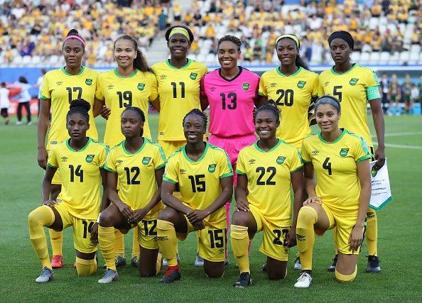 Proud of our #ReggaeGirlz 💚💛🖤 #FIFAWWC