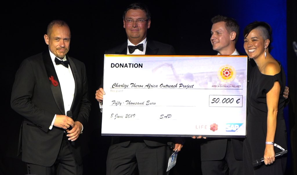 Big shout out to @sap4good for their incredible support of @CTAOP announced during the always beautiful #LifeBall!