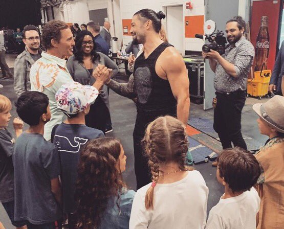 #RomanEmpire  Look at our Superstar   #RomanReigns with #MatthewMcConaughey<br>http://pic.twitter.com/JePtnRJT76