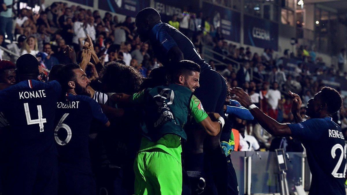 Cest le genre de match quon gagne en équipe ! ✊🇫🇷 #EuroEspoirs #ANGFRA