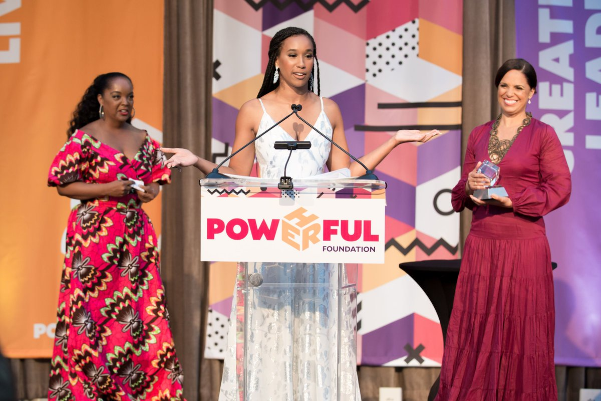 @shebaturk began as a mentee, became a scholar, & now excelling as a mentor. She took the gift of education & works to ensure girls all over the nation have similar opportunities. We couldn't have selected a better recipient for the PowHERful Legacy Award! #PowHERfulGala