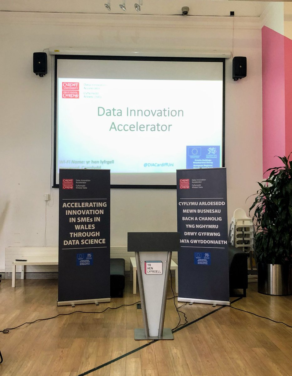 We're delighted to be at the launch of the Data Innovation Accelerator @DIACardiffUni this evening. The DIA will work with SMEs across the #EastWales region to apply #DataScience techniques to assist in identifying and realising the power of their data <br>http://pic.twitter.com/0QVmFH8pwX