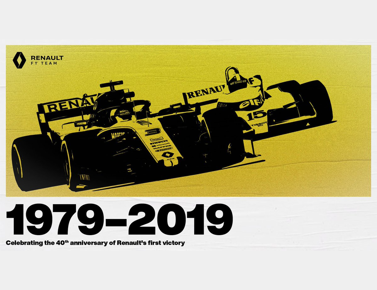 Throughout this week we will be celebrating the 40th anniversary of our first @F1 victory back in 1979, when Jean-Pierre Jabouille won the #FrenchGP in Dijon. We kick it off with where it all started, the launch of Renault's F1 project. 👇  #RSspirit