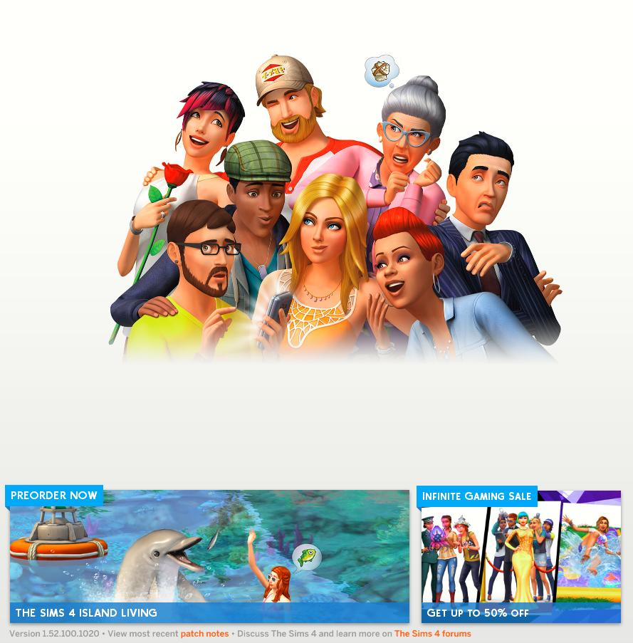 The Sims 4 Version 1.52.100.1020