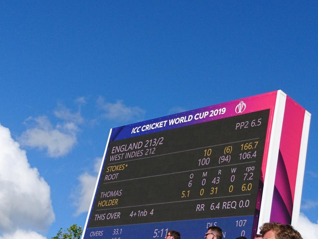 #SweepTheNation @NissanUK hoping for another scoreboard like this today #ENGvAFG #cwc19 come on England!