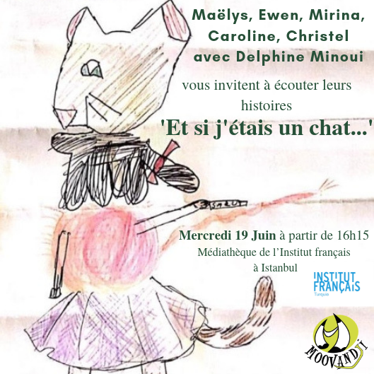 RV demain, 19 juin, à 16h15 à la médiathèque de l'Institut français d'Istanbul pour venir écouter mes petits élèves/écrivains en herbe raconter leurs histoires de chats. #écriture #transmission #conte #histoires #lecture #apprentissage #livres #culture