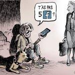 Facebook lance sa monnaie - © Chappatte dans Le Temps, Suisse > https://t.co/98nju2GDTo