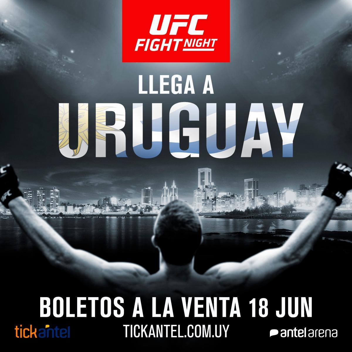 #UFCUruguay 🇺🇾  BOLETOS A LA VENTA YA‼️  Den click aquí y nos vemos el 10 de Agosto http://bit.ly/2Zwb8b6