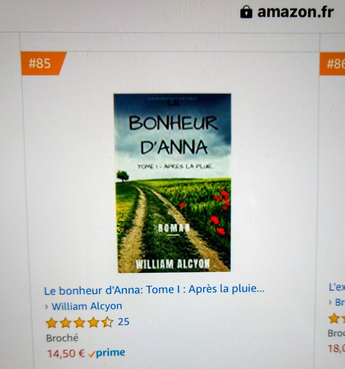 Entrée dans le top 💯 (livres brochés) ❤️👍🏻😉 #livre #lecture #Roman #auteur #Roman #Romans #FeelGood #developpementpersonnel #amazonkindle #amazon #ebook @william_alcyon  https://www.amazon.fr/bonheur-dAnna-Apr%C3%A8s-pluie-ebook/dp/B07KXY4R6H/ref=mp_s_a_1_1?__mk_fr_FR=%C3%85M%C3%85Z%C3%95%C3%91&qid=1544769649&sr=8-1&pi=AC_SX236_SY340_FMwebp_QL65&keywords=le+bonheur+d%27Anna…
